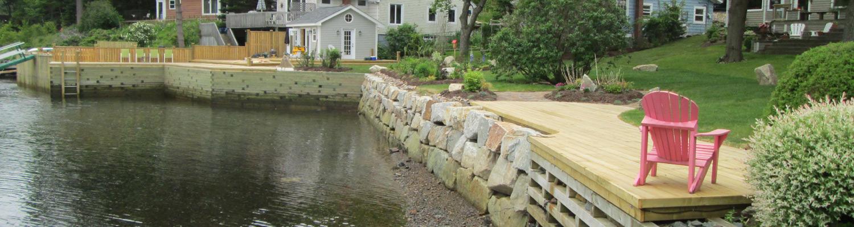 Granite Block Seawall : Seawalls atlantic wharf builders nova scotia